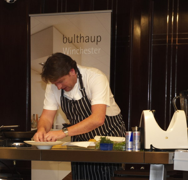 James Martin working at bulthaup b2 kitchen