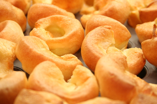 Yorkshire puddings cooked in Miele steam oven at bulthaup