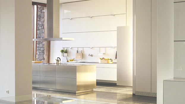 b3 kitchen in stainless steel